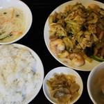 蓬莱・HOURAI - 海老、野菜の玉子炒め定食