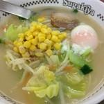 スガキヤ - 野菜ラーメン¥420+卵¥50