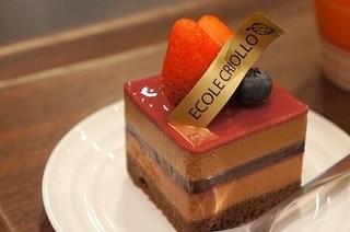 クリオロ カフェ - 世界コンクールで優勝したチョコレートケーキ(ニルヴァナ)