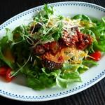boogaloocafe - サラダランチ<\850>(サワークリームと厚切り茄子のアラビアータサラダ、2013年1月)