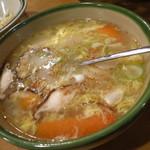 焼肉ざんまい - たまごスープ350円