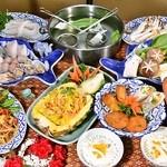 エラワン - 更にグレードアップしたタイしゃぶ鍋、タイ料理をお楽しみください。お一人様4,500円 グレードアップ飲み放題付