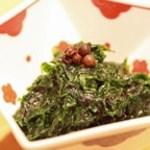 四季料理 いけ増 - 青海苔のさっぱり和え 香の良い浜名湖産新物を使用しております。