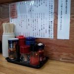 つけ麺 きくちゃん - カウンター