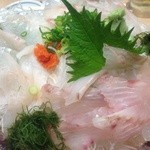 17558805 - 白身魚の3点盛り