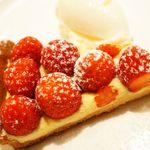 OGINO Red&Green Restaurant - 伝統菓子シリーズ第9弾~苺のタルト~(600円)