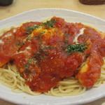 17564481 - 唐辛子入り完熟トマトソースのチキン