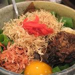 蕎麦お好み焼き・もんじゃ あさひや三代目 - 牛ニラ