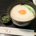 そば処笹喜  - 料理写真:そば処笹喜の山掛けそば温840円(12.12)