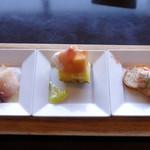 イタリアンダイニング アンプ - プチ贅沢コースの前菜3品盛り