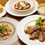 レストラン アクールジョア - 料理写真:ディナーコースの一例。