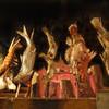 季樂 - 料理写真:囲炉裏の炭火で焼く魚介類