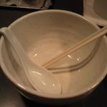 中華そば 慈庵 - もちろん完食です