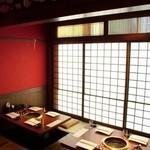 神田 炎蔵 - 掘りごたつ席では最大20名様までのご宴席が可能。
