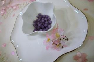 緑寿庵清水 - ブルーベリー味。.:*・゚