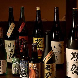 郷土料理と相性の良い山口自慢の地酒を豊富に取り揃えております!