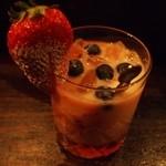 17594203 - 3杯目はイチゴのヨーグルトカクテル