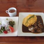 山猫料理店 - ビーフシチューソースオムライス