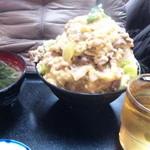 北野食堂 - 他人丼(普通サイズでこの量)