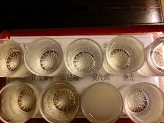 地場飯&地酒 満天 - 西條酒飲み比べ 1600円