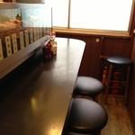 鳥福 - 2階カウンター席