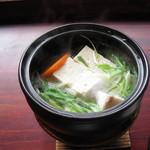 いこい旅館 - 朝食の湯豆腐