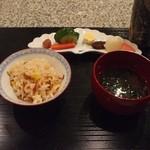 菅井 - 2013/3 釜飯 とうもろこしとじゃこ
