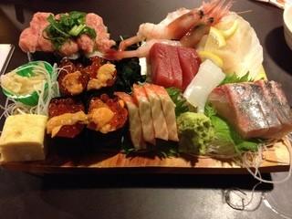 寿司居酒屋のぼる - お得盛り(1,800円)2013年2月
