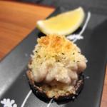 はせ茂 - 鱈の白子とどんこ椎茸 ガーリック焼き(2013年3月)