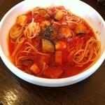 17610751 - 茄子とチーズのトマトパスタ