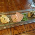 パッパーレナポリ - 前菜3種盛り