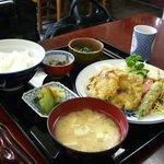 松浦食堂 - ほたてフライ定食。