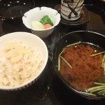 壽山 - 赤出汁も美味しくて大満足