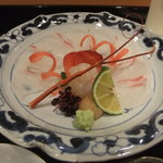 壽山 - 天然鯛と伊勢海老のあらい