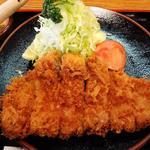 喜多八 - ロースカツ定食(アップ)(2013.2)