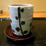玉笑 - そばと一緒に出された2杯目のお茶の湯呑