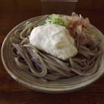 一福 - 季節限定「山かけそば」1,100円