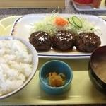 17630337 - ハンバーグ定食(580円)