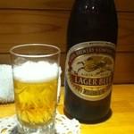 小料理おちゃめ - 瓶ビール中びん