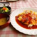 おむれった - ソースで食べるオムライスセット「チリトマト」