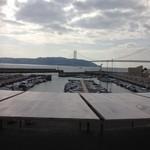 17637541 - 窓からの景色 淡路島、明石大橋