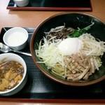 17638375 - 上海油そば(ランチ:麻婆豆腐&杏仁豆腐付き)750円