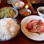 利伸 - 料理写真:和牛カルビ定食