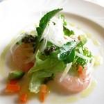 キャトルエピス - 前菜のガス海老のマリネ