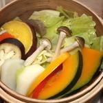 スプーン ガーデン レストラン - 野菜は新鮮で柔らかで沢山あります