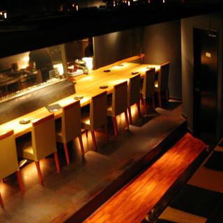 【桜座蔵】自慢の料理を肴に、お一人で晩酌を楽しむ方もいます