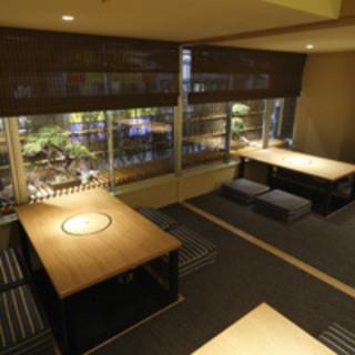 京の料亭のような落ち着いた大人の空間