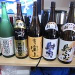 かましま - アルコールも種類豊富にあります☆~坂越の地酒の忠臣蔵は牡蠣との相性バッチリ☆