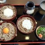 ほしえん - 三色割子蕎麦(玉子、山芋、大根おろし)