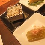 りんどう - しんこ(ポン酢とお出汁)とふき^^